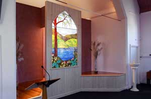 Feature window, Delbridge Funeral Chapel